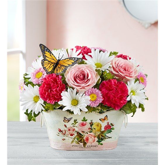delightful-day-bouquet-in-a-butterfly-container