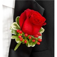 red-boutonniere-with-berries